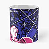 Soviet Space Poster Propaganda Classic Mug - Unique Gift Ideas For Her From Daughter Or Son Cool Novelty Cups 11 Oz-yourelse.