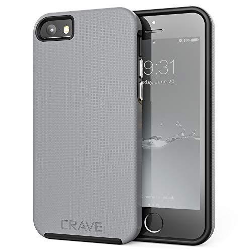 Crave iPhone SE [2016](1st gen) Case, Dual Guard Protection Series Case for iPhone 5 / 5s / SE - Slate