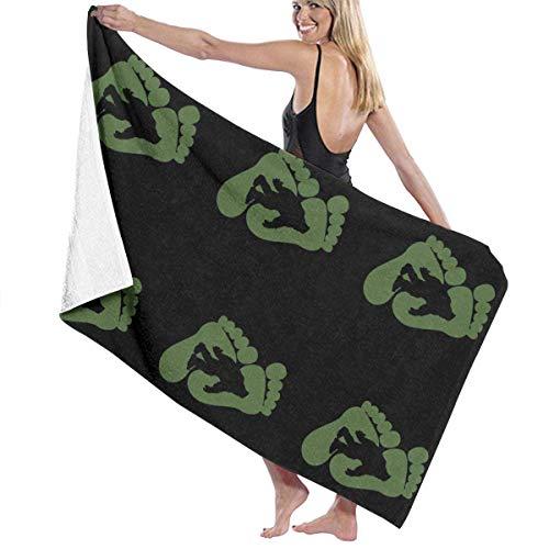 Yuanmeiju Toalla de baño Beach Towels Sasquatch Bath Towels For Teen Girls Adults Travel Towel Washcloth 31x51 Inches