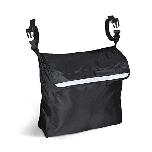 uyoyous Rollstuhl Tasche Multifunktions Rollstühle Taschen Aufbewahrungstasche Rollstuhl-Zubehör Veranstalter für Mobilitätshilf Rollstuhl - Hohe Kapazität, Wasserdicht (Schwarz)