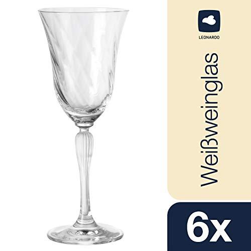 Leonardo Volterra Weißwein-Gläser, Weißwein-Kelch mit Stiel, spülmaschinengeeignete Wein-Gläser, 6er Set, 200 ml, 020764