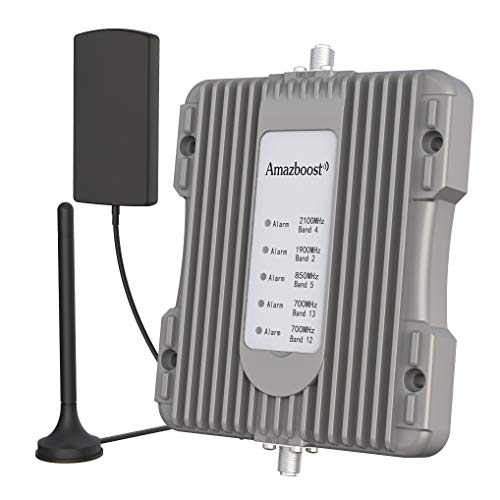 Amazboost Cell Phone Booster for Car, Truck,RV,Pickup or SUV-Vehicle 5 Bands Cell Phone Signal Booster Apply to All U.S. Carriers | Verizon AT&T Sprint T-Mobile | Amplifies 4G LTE 3G 2G Signal