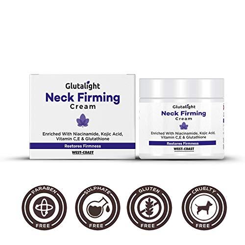 Glutalight Neck Firming Cream with Glutathione, Vitamin C, E, Kojic Acid & Niacinamide - 50gm