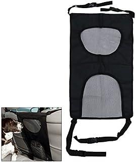 eDealMax Asiento Universal de Doble Malla de seguridad Para Perros Barrera de separación mascotas Aislamiento cubierta
