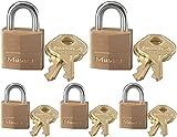Master Lock Candado de latón 120D 5 unidades