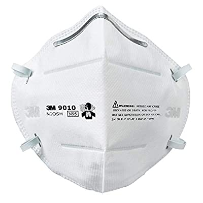 3M N95 Particulate Respirator, 9010, (Box of 50 Respirators) by 3M