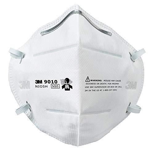 3M N95 Particulate Respirator, 9010, (Box of 50 Respirators)