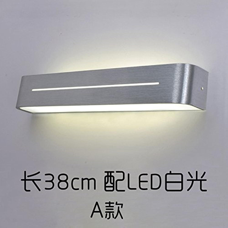 BESPD Vor dem Spiegel Lampe Badezimmer Waschtisch Badezimmer moderner minimalistischer Wandleuchten Rost 38 cm lang mit weiem LED-Licht LED