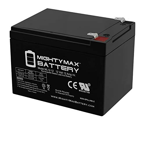 Mighty Max Battery ML12-12 - 12V 12AH F2 SLA AGM DEEP-Cycle Rechargeable Battery Brand Product