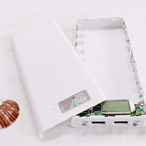 Cewaal Banco de energía de Diy 18650mAh Puerto USB Dual Externo Cargador de banco de energía Caja Con pantalla LCD para el teléfono