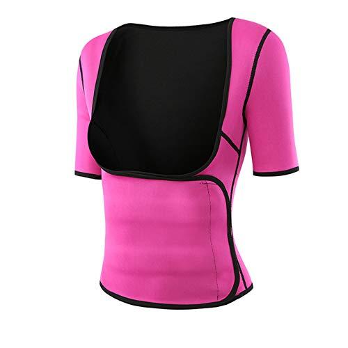 KPII Entrenamiento para Mujeres Corsé, Faja Reductora Mujer, Camisetas Sauna Adelgazantes Cinturón,Rojo,X Large