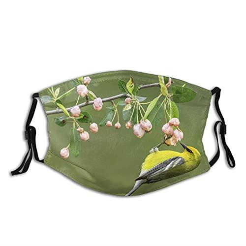 Máscara facial de moda cómoda naturaleza pájaro rama flores Sun-Proof moda Bandana Headwear para la pesca