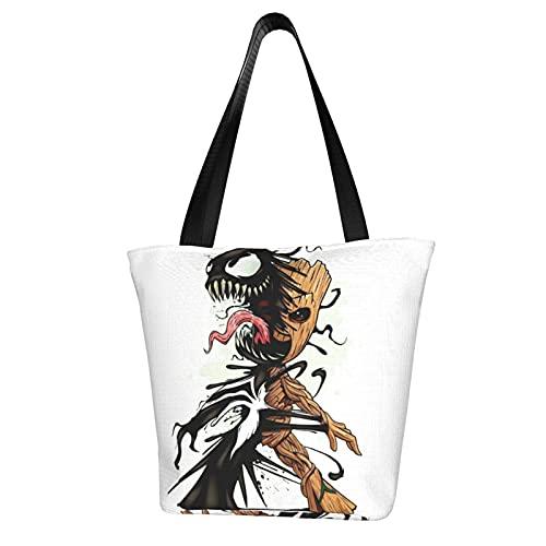 Groot - Bolsa de mano para bebé, con asa de hombro, bolsa de trabajo escolar, gran capacidad, almacenamiento de comestibles para tableta de viaje diario