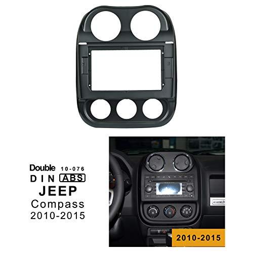 EzoneTronics 10-076 - Cornice speciale per autoradio JEEP Compass 2010 – 2015, doppio DIN 10-076