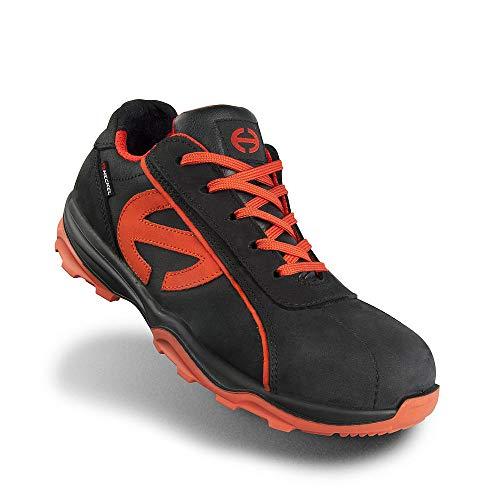 Heckel Herren und Damen 6260343 Run-R 300 Low Safety Trainers, Size 43 Arbeitsschuhe, Schwarz Orange, EU