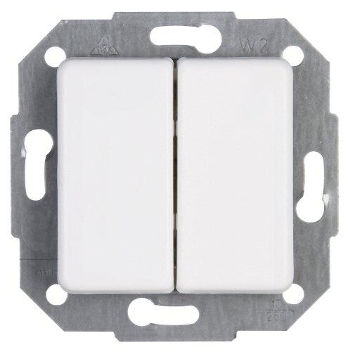 Kopp Europa Wechsel-Wechsel-Schalter arktis-weiß 613313083