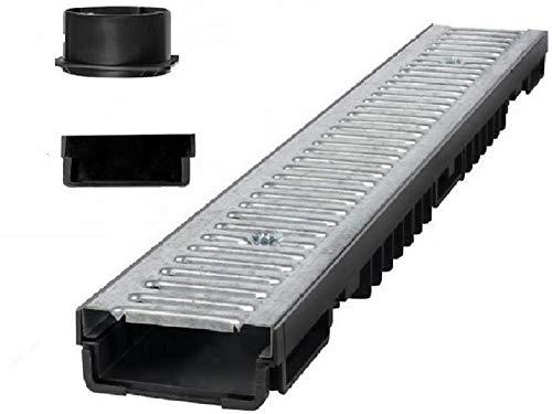 Bielbet Entwässerungsrinne h= 55mm 13,25€/m 10 Set inkl.2 Endkappen und Anschlussstück DN110