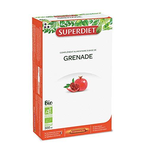 SuperDiet Jus à base de concentré de Grenade20 ampoules de 15ml soit 300ml