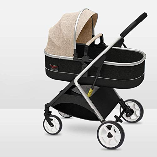 Review Cozy Baby Stroller, Convertible Reclining Stroller, Foldable and Portable Pram Carriage Pushc...