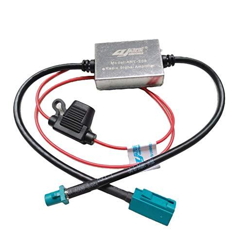 ihreesy Universal Amplificador de Antena 25 DB,Amplificador de Señal de Radio de Coche de 12 V-24 V Amplificador de Señal de Antena de Coche Amplificador de Señal de Antena de Coche Amplificador