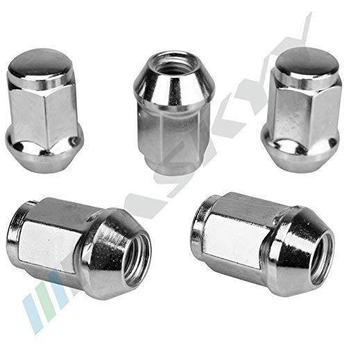 20 Chrome Écrou de Roue Mère M12x1, 25x34 SW19 Conique Cône 60° Aluminium Acier Jantes