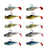 Mybait Fishing Lures Bass Artificial Soft Bait Swim Shad Saltwater Freshwater Trout (4)