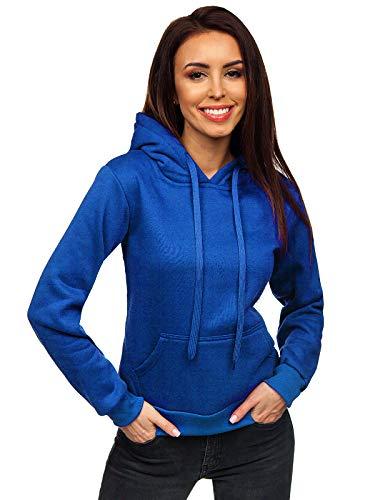 BOLF Damen Kapuzenpullover Sweatshirt mit Kapuze Sport Pullover Sweatjacke Hoodie Langarmshirt Farbvarianten Sweater Reißverschluss Fitness Training J.Style W02 Hellblau M [A1A]