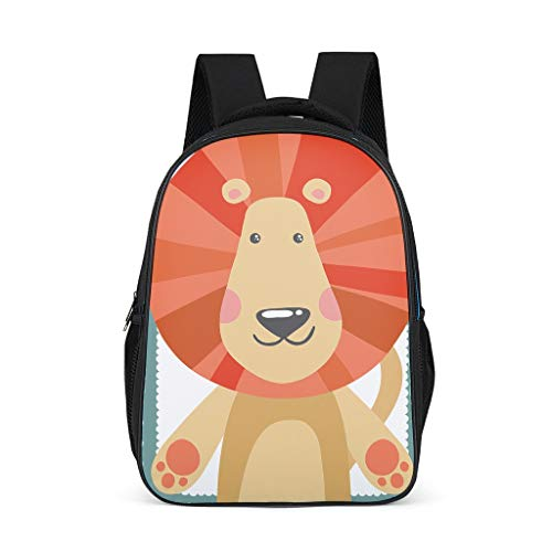 Animal Adult's Backpacks Classic All Over Print for School and Travel animal grey onesize