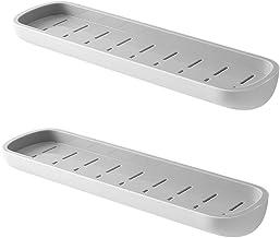 2 stks/set Badkamer Plank Geen Boor Organizer Wandmontage Shampoo Kruiden Douche Opbergrek Houder Badkamer Accessoires, 2 ...