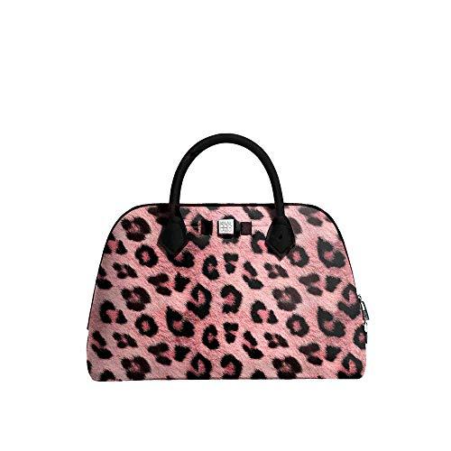Save My Bag - Borsa a mano da donna, motivo principessa MIDI stampato, colore: Rosa leopardato