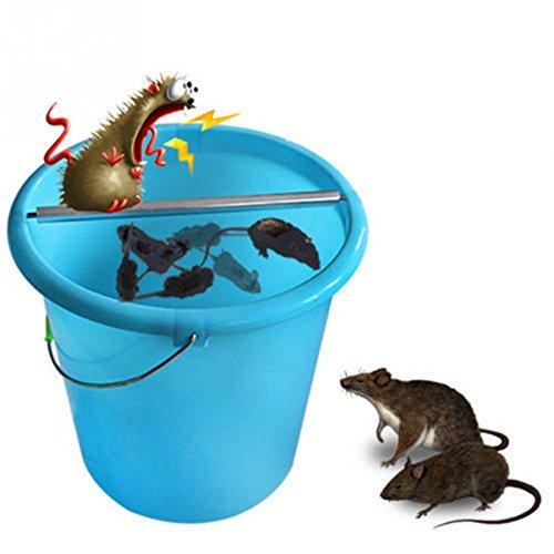 GRH Ratones de Acero Inoxidable Ratas para Ratones Registro de trampas Rodillo rodante Bastón Giratorio Ratón roedor Trampa para Ratones