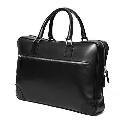 Chiccheria Brand luxe lederen portemonnee tas bekend van GQ laptoptas zwart krokodillenleer premium kwaliteit Gentleman heren stijl MADE IN ITALY