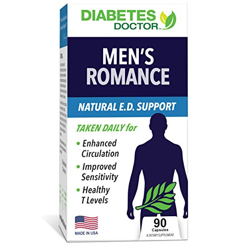 Diabetes Doctor Men's Romance (His Vitality) Health Booster - Enhances Sensitivity - Improves Circulation - Boosts Strength & Drive - Builds Stamina - 90 Capsules