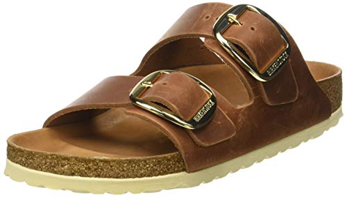 BIRKENSTOCK Damen Arizona Big Buckle Peeptoe Sandalen, Braun (antique brown), 41 EU