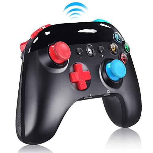Controller für Switch, Bluetooth Wireless Pro Controller mit Einstellbarem Turbo und Dual Shock Joysticks Gyro Achse, Wiederaufladbarer Akku Remote Gamepad Controller für Nintendo Switch PC