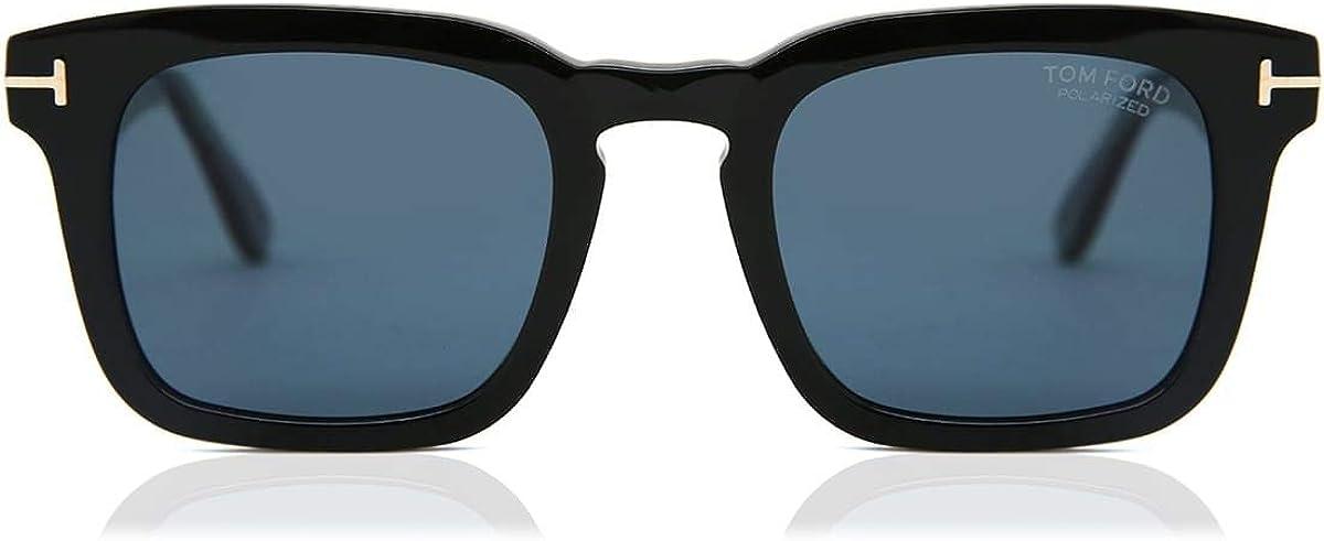 Tom Ford - FT0751 Shiny Black Square Men Sunglasses - 50mm