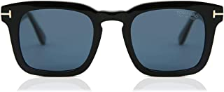 FT0751 Shiny Black Square Men Sunglasses - 50mm