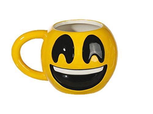Ideal Keramik Becher Emotion Smileys Motiv1 10x9 cm Kaffee Tee Tasse Kafeebecher