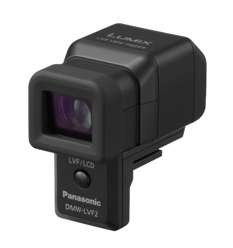 Panasonic LUMIX DMW-LVF2E Elektronischer Aufstecksucher (1,44 Megapixel, 0,7x Vergrößerung, 90 Grad nach oben kippbar)
