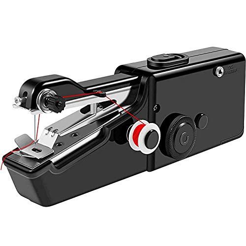 Machine à coudre à main - Mini machine à coudre électrique portable sans fil - Petite machine à coudre à main à point pratique, garantie de remboursement à vie! - Noir