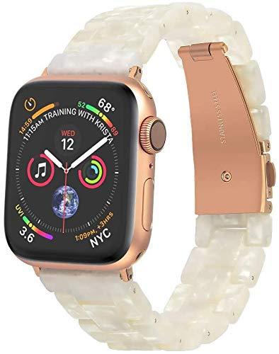 ANBEST Correa Compatible con Apple Watch Band 38mm 40mm Correa de Repuesto de Pulsera de Resina Ligera para Mujer Serie 5 4 3 2 1 Sport Edition Nike +