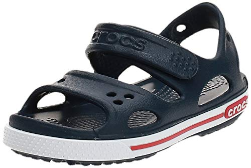 Crocs Crocband II Sandal Kids, Sandalias Unisex Niños, Azul (Navy/White), 25/26 EU