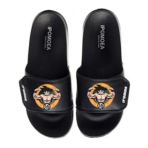 WANHONGYUE Dragon Ball Anime Unisex-Erwachsene Pantoffeln Hausschuhe Slippers Einstellbarer Klettverschluss 9 / Schwarz 290 MM
