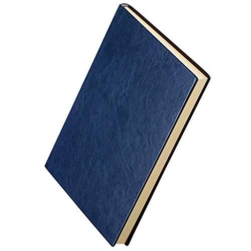 aedouqhr Bloc de Notas Cuaderno de papelería Bloc de Notas A5 Diario Grueso Cuenta de Libro Cuaderno Retro Pequeño Negocio Libro de Cuero Trabajo Suministros de Oficina Bloc de Notas (Color: C)