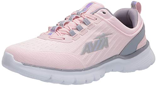 Avia Women's Avi-Factor Running Shoe, Pale Lilac/Lilac Grey/Iridescent, 6.5 Medium US