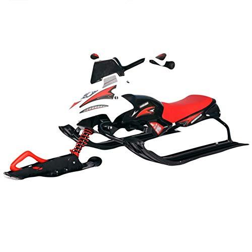 Classic Snow Racer, trineo de esquí con frenos, deslizador de nieve de plástico Metar, trineo de invierno para niños al aire libre, trineo de invierno, esquí de hierba, tabla de arena, trineo con fr
