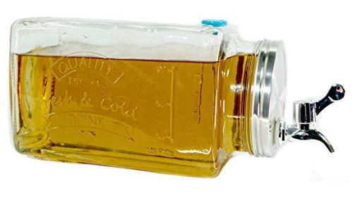 Bada Bing Getränkespender Liegend Für den Kühlschrank FM ca. 3 Liter Für Bowlen Wasser Limonade Wasserspender Praktisch Für EIN Kühlschrankfach Glas Mit Zapfhahn und Deckel 41