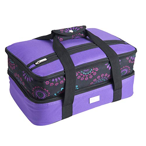Pursetti Casserole Carrier - Expandable Insulated Bag Perfect as...