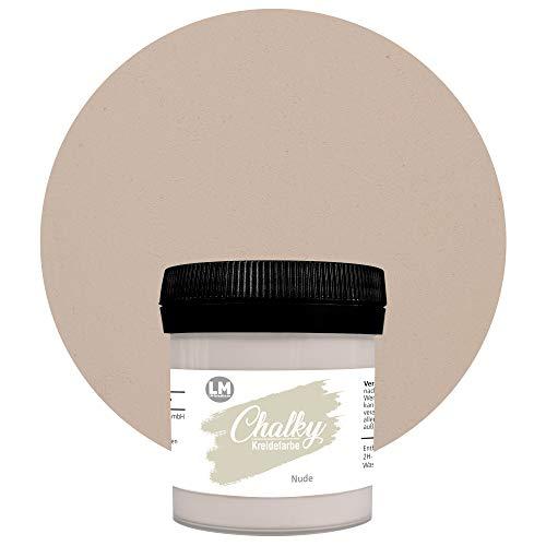 Chalky Kreidefarbe 80ml (Nude) - - Finish Kreide-Farbe, Pastell, Vintage-Look, Shabby-Chic-Look, Land-Haus-Stil, Chalky-Sets, ähnlich Viva Decor deckend