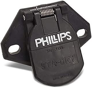UrMarketOutlet Phillips 16-720 7-Way Heavy Duty STA-Dry 2-Hole Wire Insertion Split Pin Socket